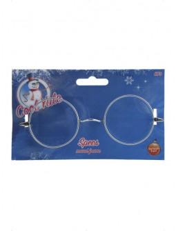 Gafas Redondas Metálicas Sin Cristal