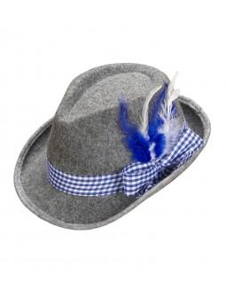 Sombrero Oktoberfest Gris y Azul