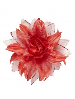 Flor de Tela Roja Grande