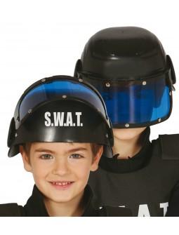 Casco policia S.W.A.T para niños