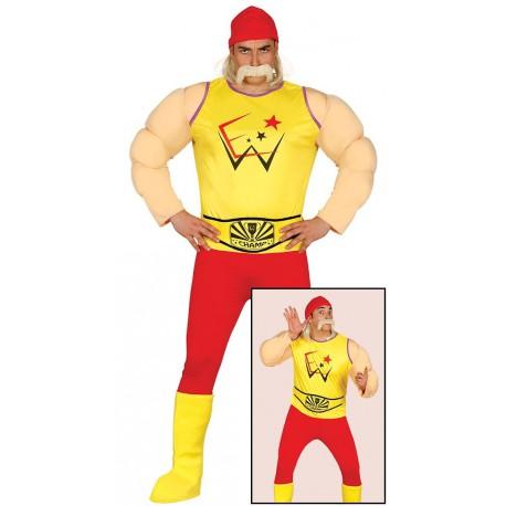 Disfraz de Hulk Hogan para Hombre