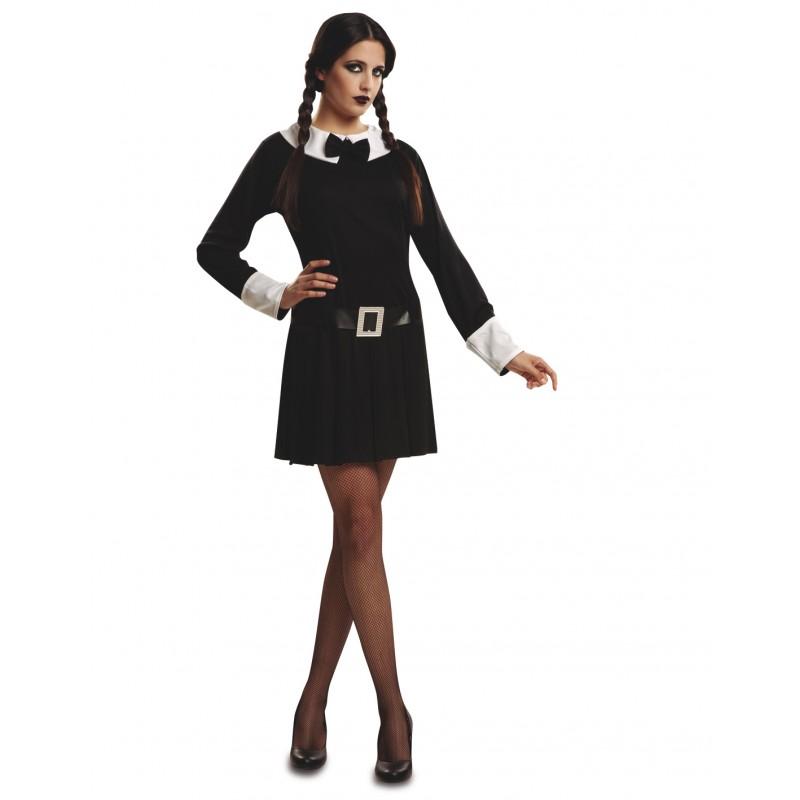 Disfraz De Miercoles Addams Para Mujer Comprar Online