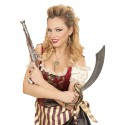 Peineta Pirata con Calaveras