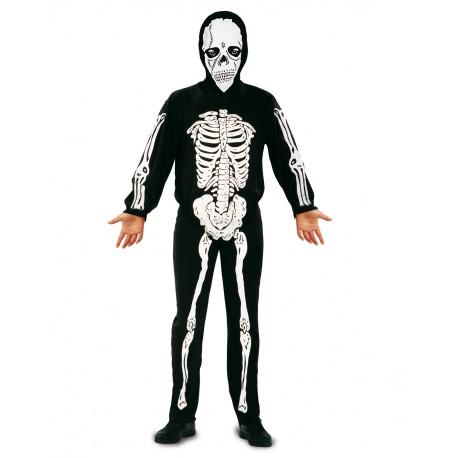 Disfraz de Esqueleto con mascara para niño