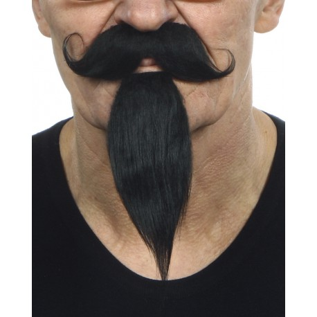 Bigote con perilla negro