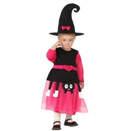 Disfraz de Bruja en Fucsia de 1 a 2 años