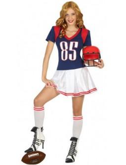 Disfraz de jugadora de Futbol Americano