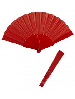 Abanico Rojo de Tela