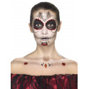 Kit Tatuajes y Maquillaje Catrina Rojo