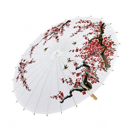 Sombrilla Oriental Blanca