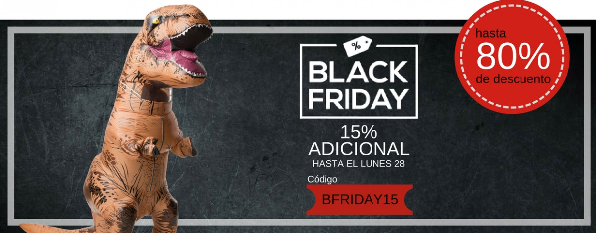 Disfraces Black Friday 2016| Descuentos Especiales